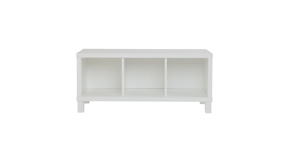 Three Cube Cubic Bench White The Land Of Nod