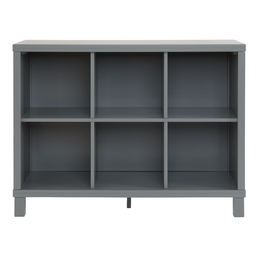 Cubic Wide Bookcase Grey 6 Cube The Land Of Nod