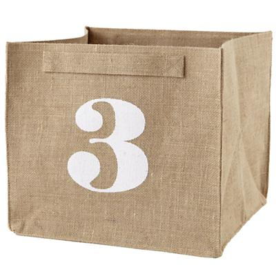 3 Store By Numbers Cube Bin