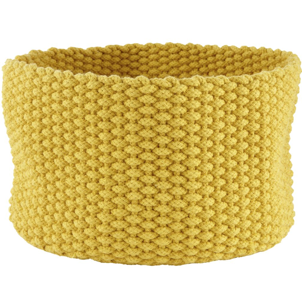 Medium Kneatly Knit Rope Bin (Yellow)