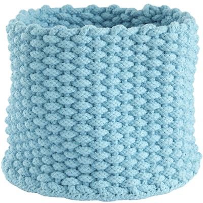 Small Kneatly Knit Rope Bin (Aqua)