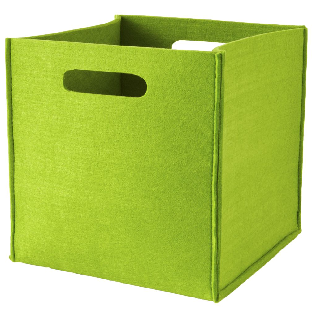 Once More with Felting Cube Bins (Green)