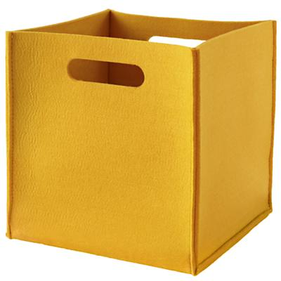 Once More with Felting Cube Bin (Yellow)