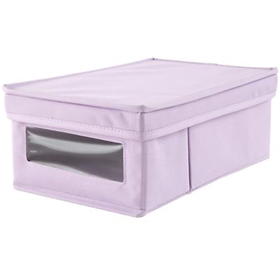 I Think I Canvas Shoe Box (Lavender)