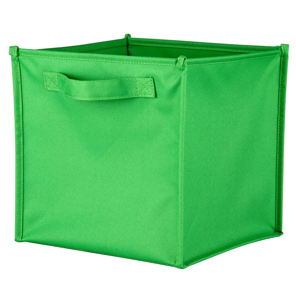 I Think I Canvas Canvas Cube Bin (Bright Green)