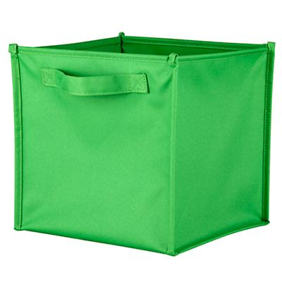 I Think I Canvas Bright Green Cube Bin