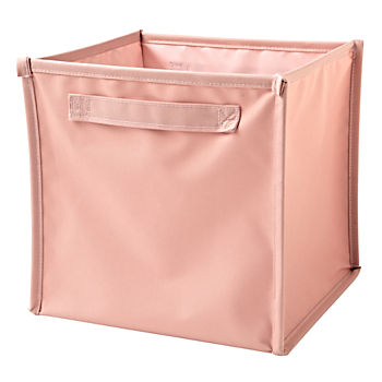I Think I Canvas Light Pink Cube Bin
