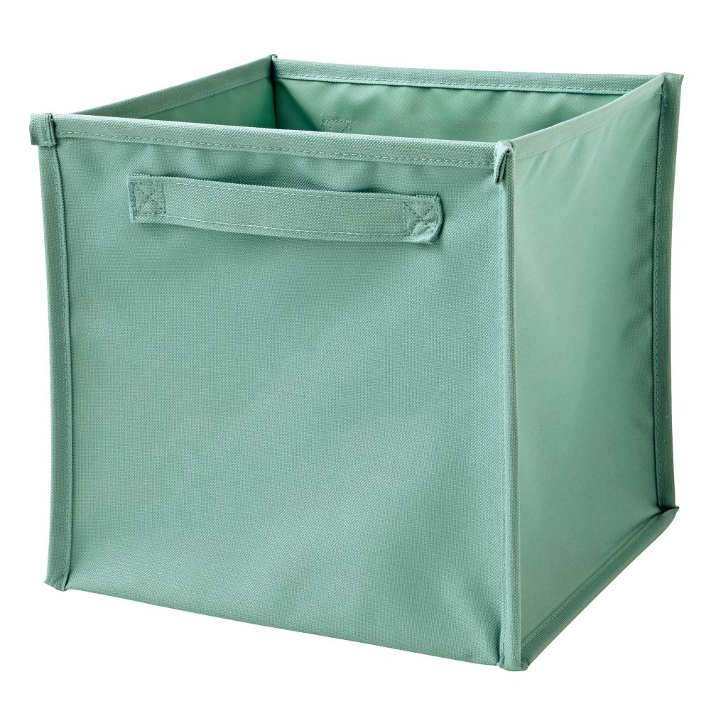 I Think I Canvas Teal Cube Bin