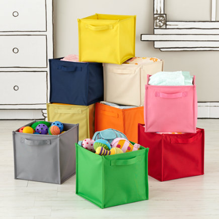kids storage containers kids canvas cube storage bin red canvas cube bin