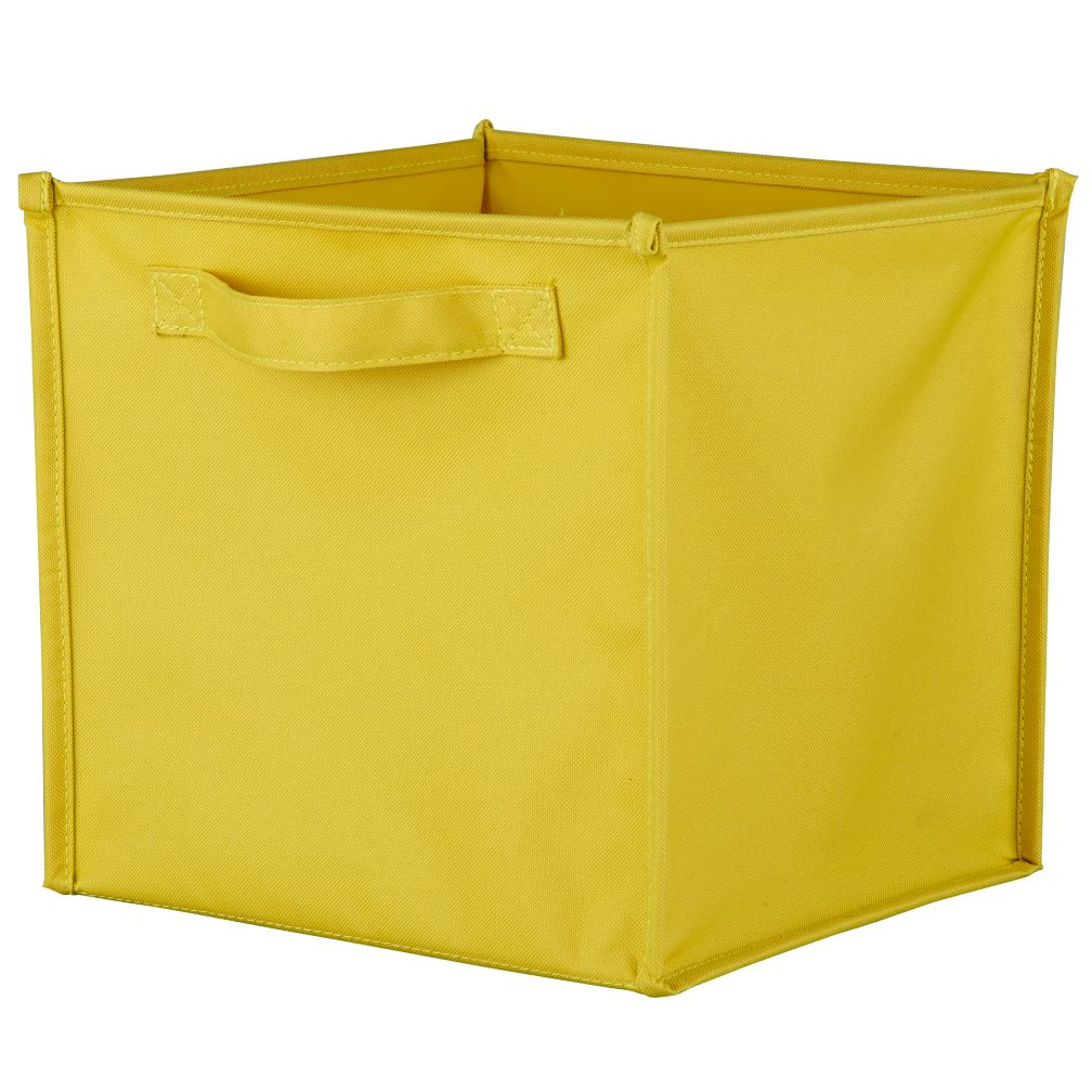 I Think I Canvas Yellow Cube Bin
