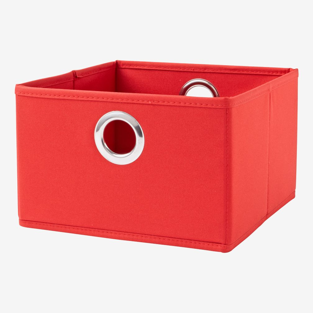Red I Think I Canvas Small Storage Drawer The Land Of Nod