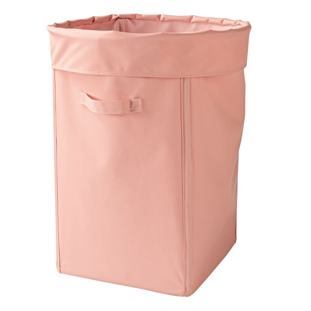 Light Pink I Think I Canvas Laundry Hamper The Land Of Nod