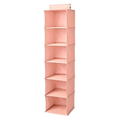 I Think I Canvas Light Pink Wide Hanging Organizer