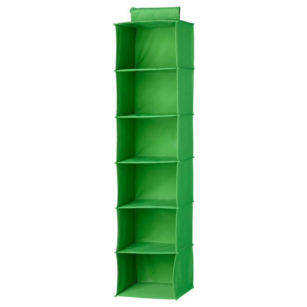 I Think I Canvas Bright Green Wide Hanging Organizer