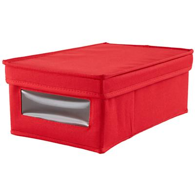 I Think I Canvas Shoe Box (Red)