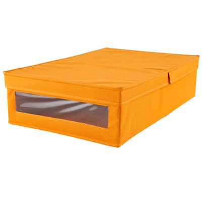 I Think I Canvas Underbed Box (Orange)