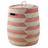 Charming Hamper (Pink Herringbone)