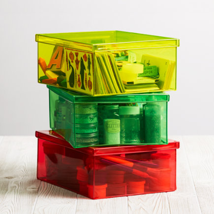 See-Through Storage Box - Red X-Ray Storage Box