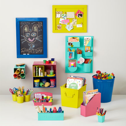 Kids Storage: Colorful Iron Storage Bins - Aqua I Couldve Bin a Pencil Cup