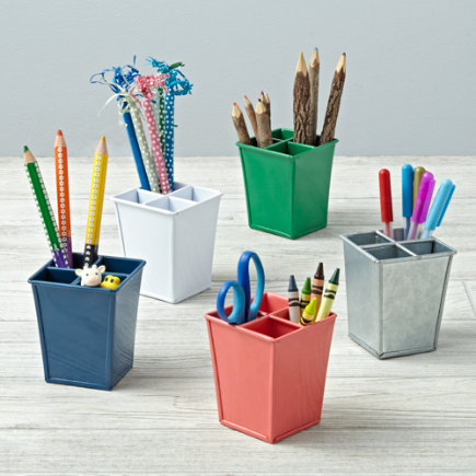Kids Storage: Colorful Iron Pencil Cups - I Couldve Bin a White Pencil Cup