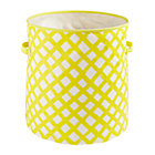 Yellow Crisscross Floor Bin.