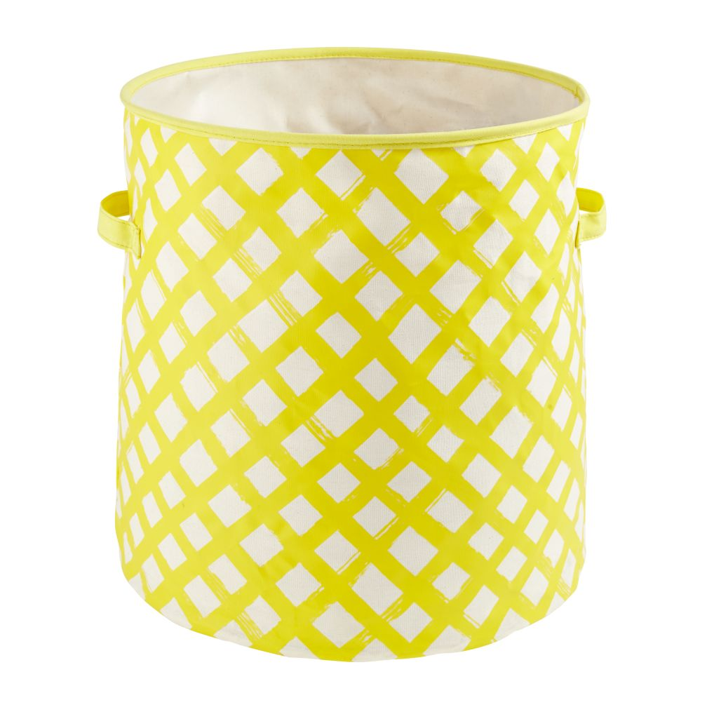 Crisscross Floor Bin (Yellow)