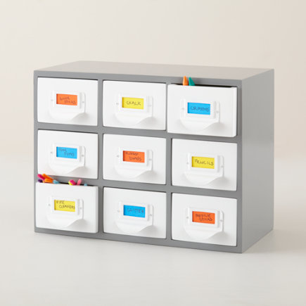 Dewey Decimal Drawers - Grey Decimal Drawers