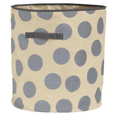 Dotted Floor Bin (Grey)