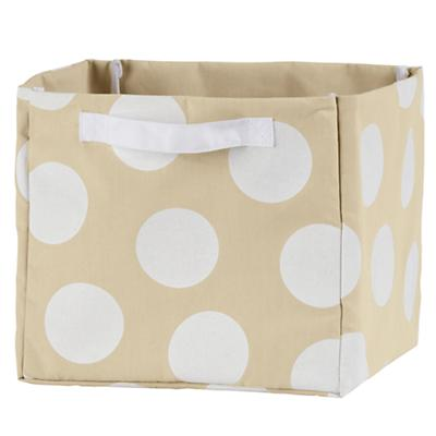 Dotted Cube Bin (White)