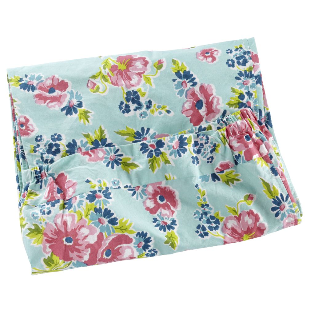 Down to the Wire Hamper Liner (Blue Floral)