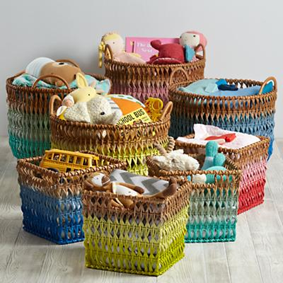 Fade Up Rattan Basket Collection