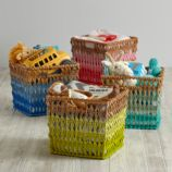 Fade Up Rattan Cube Basket