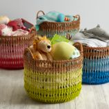 Fade Up Rattan Floor Basket