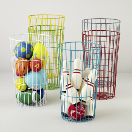 Kids Flea Market Wire Ball Bins - Grey Ball Bin