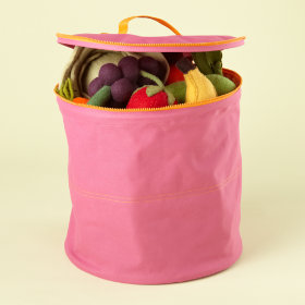 Pink Grab Bag Storage Bin