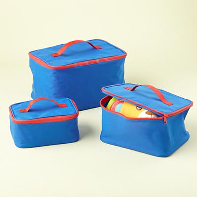 Blue Grab Bag Carrying Cases (Set of 3)