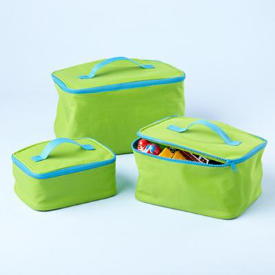 Green Grab Bag Carrying Cases (Set of 3)