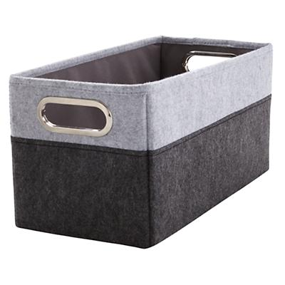 Greyscale Small Changing Table Basket
