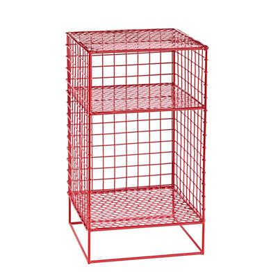 Red On the Grid Nightstand