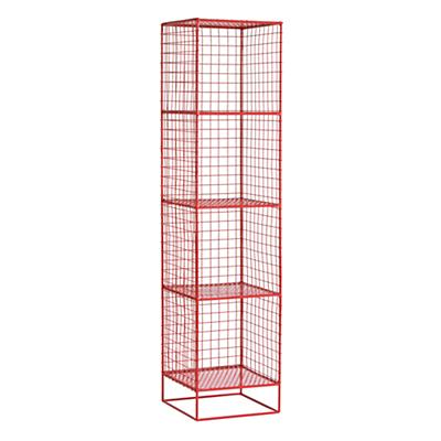 On the Grid 4-Cube Bookcase (Red)