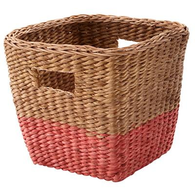 Half Tone Cube Basket (Red)