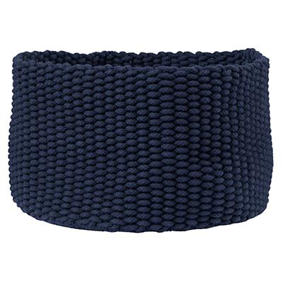 Large Kneatly Knit Rope Bin (Dk. Blue)