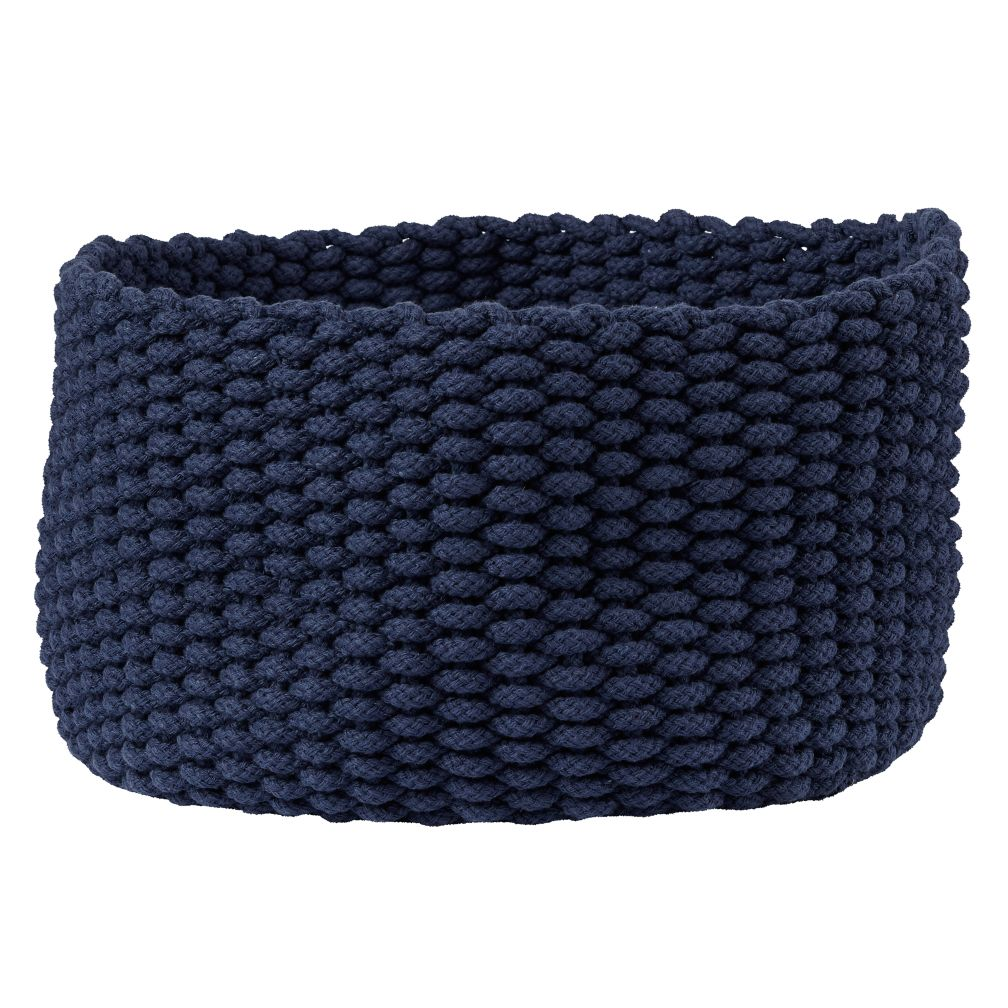 Medium Kneatly Knit Rope Bin (Dk. Blue)