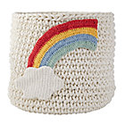 Rainbow Knit Nursery Bins.