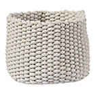 Small Khaki Kneatly Knit Rope Bin