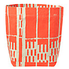 Orange Landscape Floor Bin