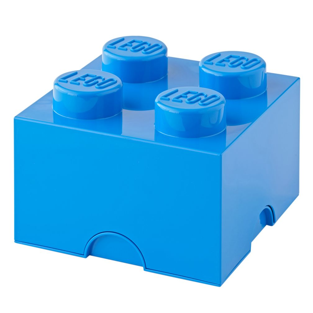 Blue Lego Storage Brick 4