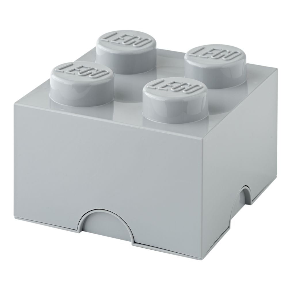 Grey Lego Storage Brick 4