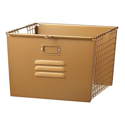 Saved by the Cube Bin Locker Basket (Gold)