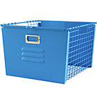Blue Metal Locker Basket